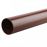 OSMA 0T084 BROWN 68MM X  4MT RAINWATER DOWNPIPE ROUNDLINE