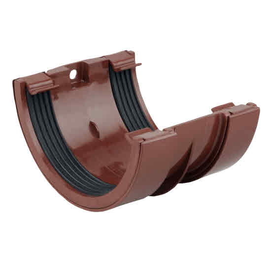 "0SMA 0T005 4.1/2"" BROWN GUTTER JOINTING BRACKET ROUNDLINE"